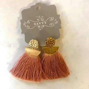 Savvy Pink Tassel Earrings